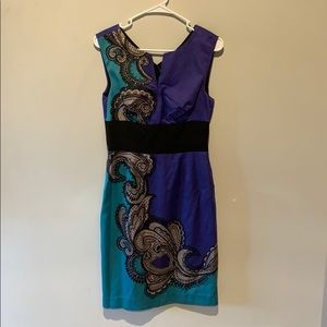 Trina Turk Blue Dress with Lacey Design